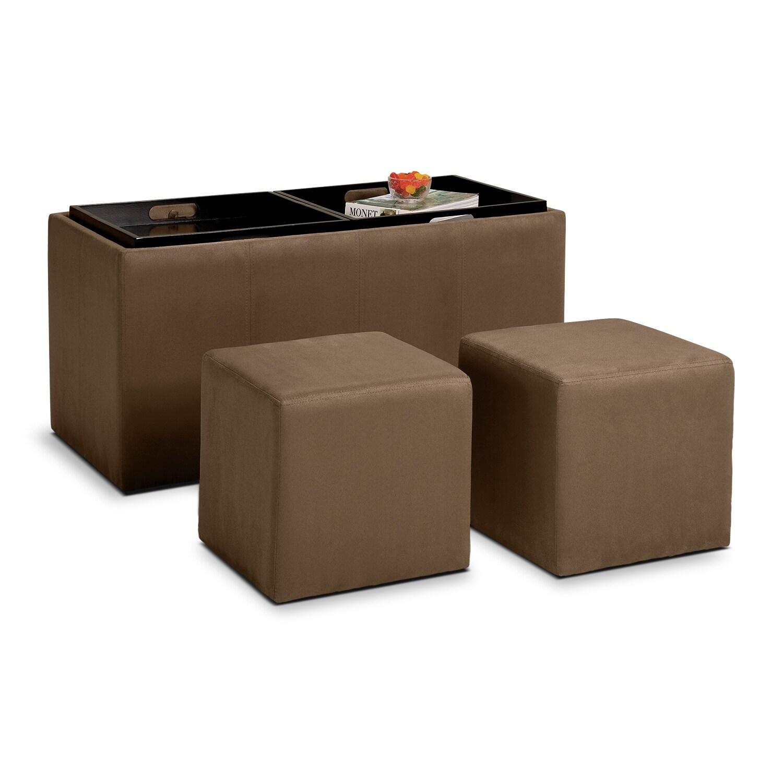 ottomans living room seating value city furniture. Black Bedroom Furniture Sets. Home Design Ideas