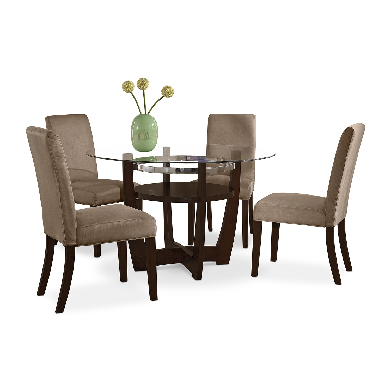 Alcove Dinette with 4 Side Chairs - Beige