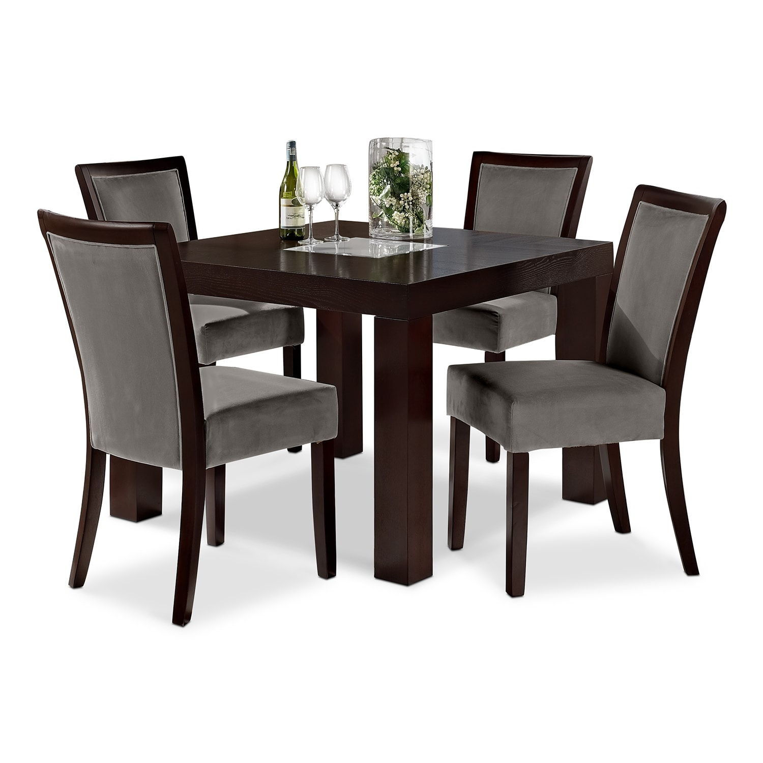 "Tango Gray 5 Pc. Dinette (42"" Table)"