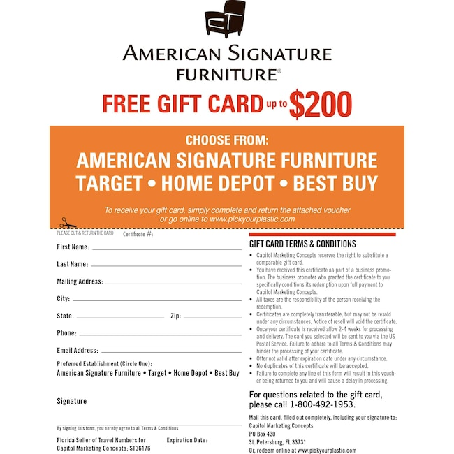 Special Gift Card Value City Furniture And Mattresses
