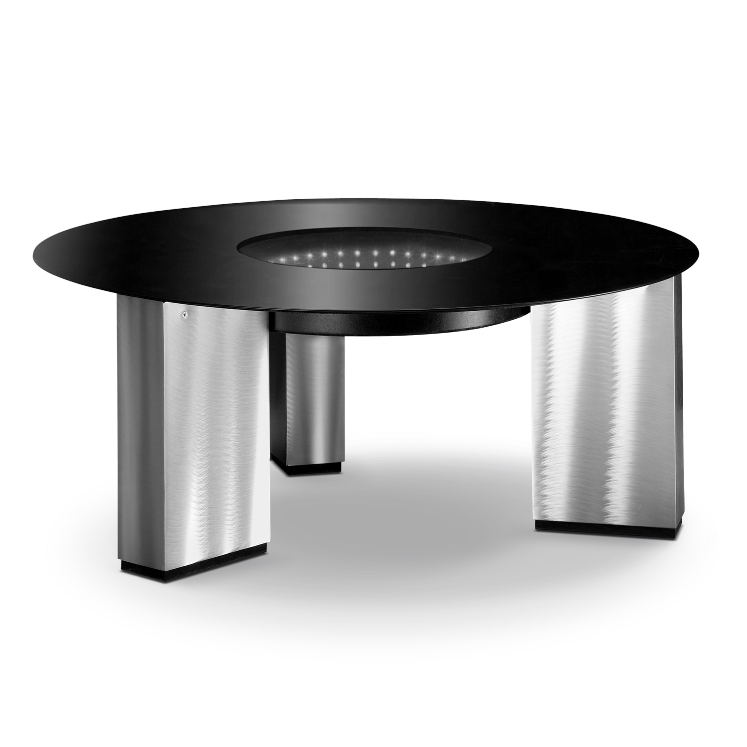Accent and Occasional Furniture - City Lights Cocktail Table - Silver and Black