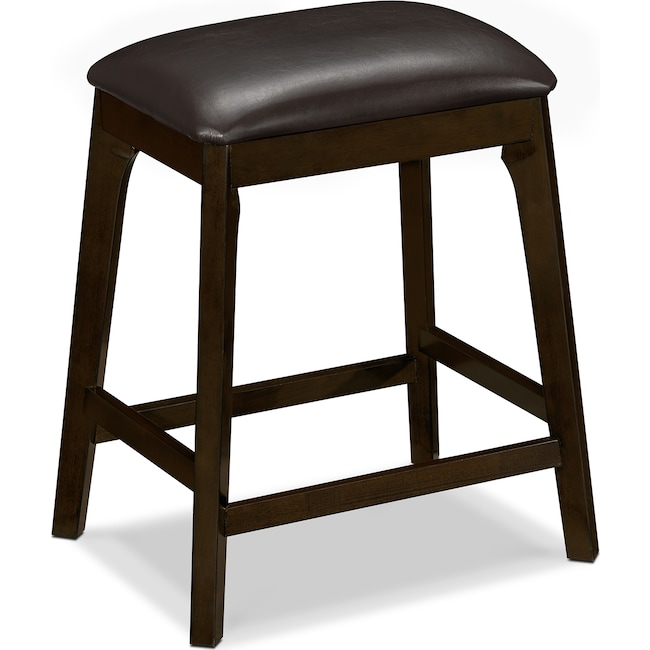 Dining Room Furniture - Mystic Backless Counter-Height Stool - Merlot and Chocolate