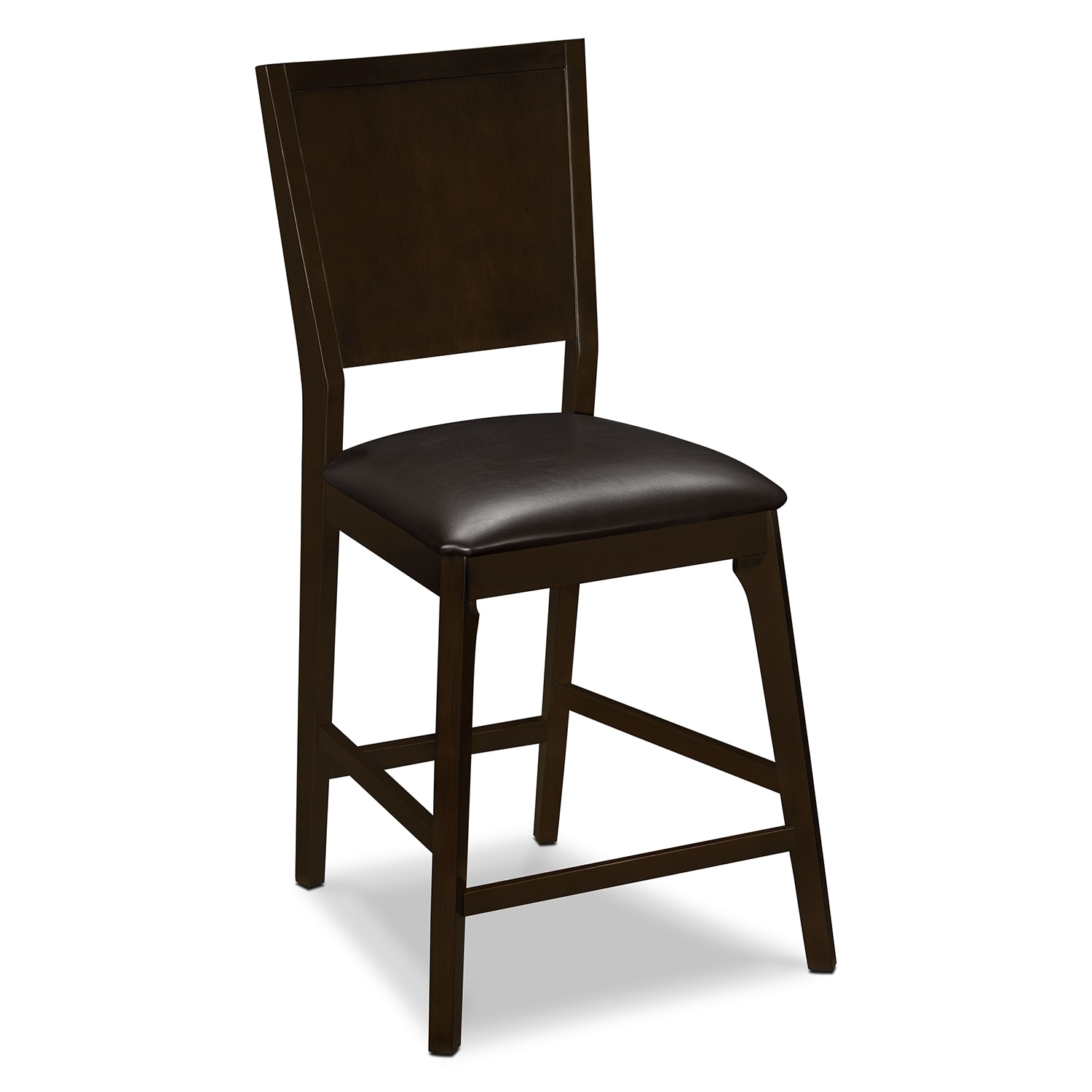 Dining Room Furniture - Mystic Counter-Height Stool - Merlot and Chocolate
