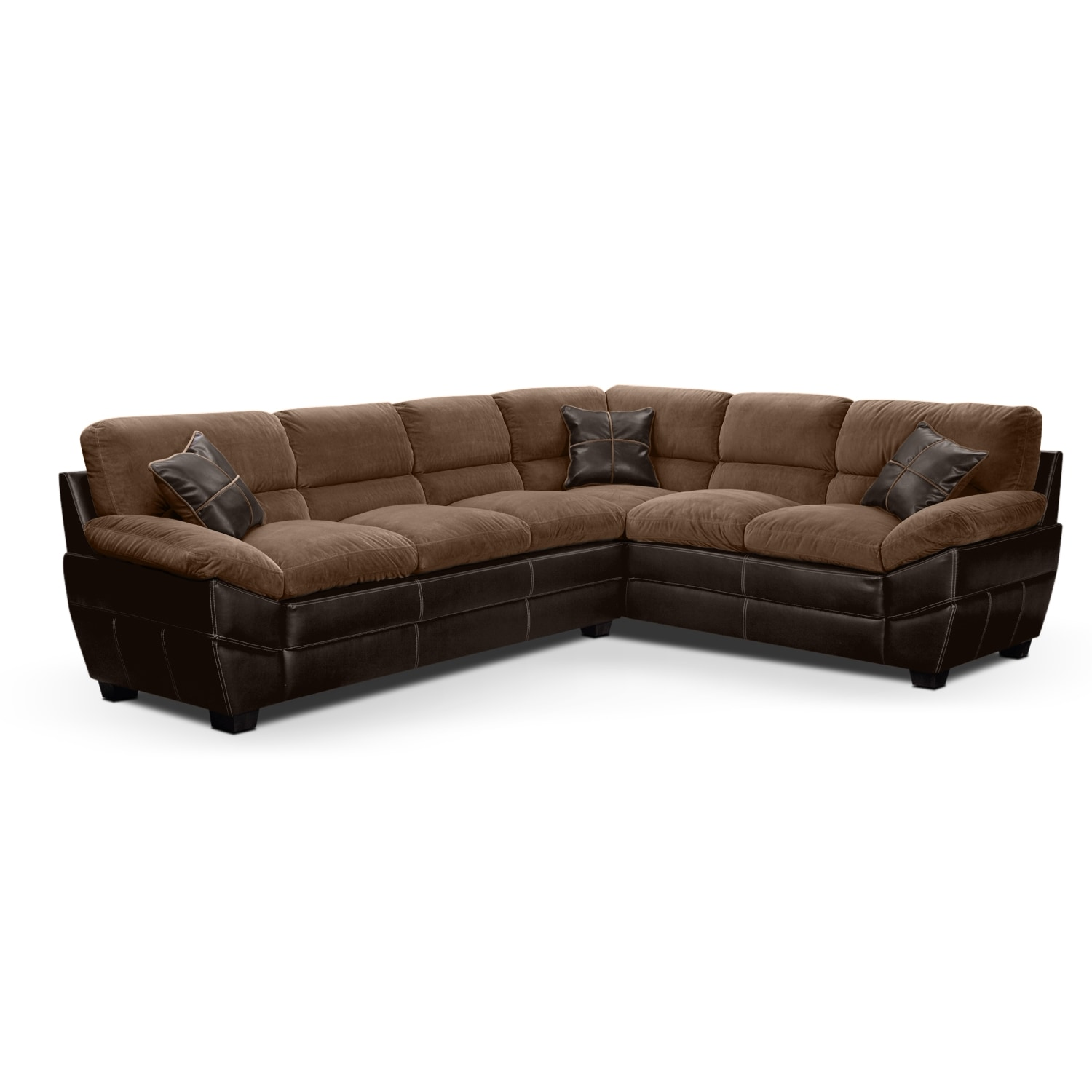 Living Room Furniture - Chandler Beige II 2 Pc. Sectional