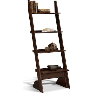 Art & Crafts Leaning Bookshelf - Chocolate
