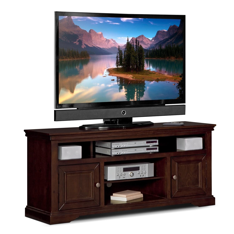 Jenson 60 Quot Tv Stand Cherry Value City Furniture