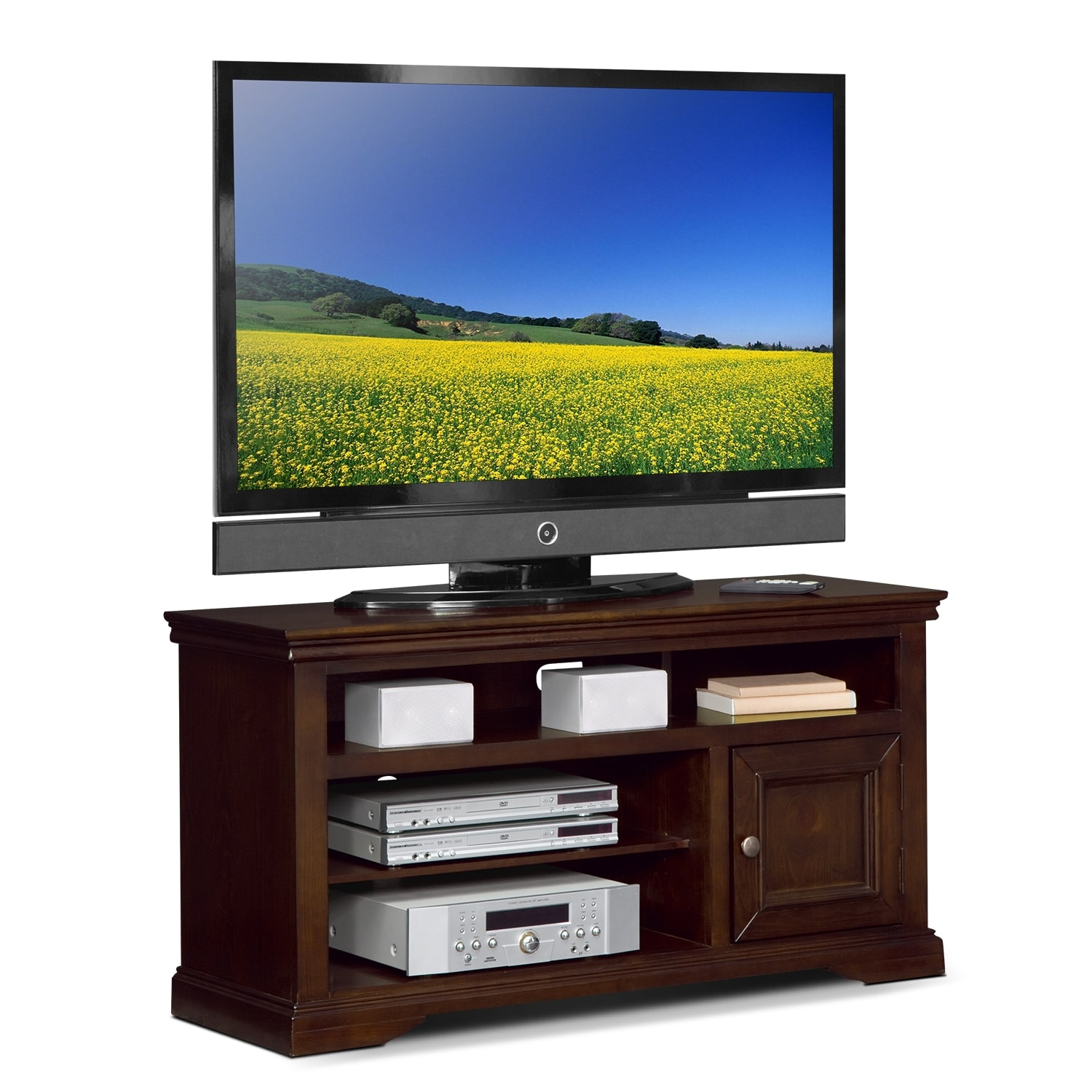 "Entertainment Furniture - Jenson 50"" TV Stand - Cherry"