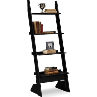 Plantation Cove Leaning Bookshelf - Black