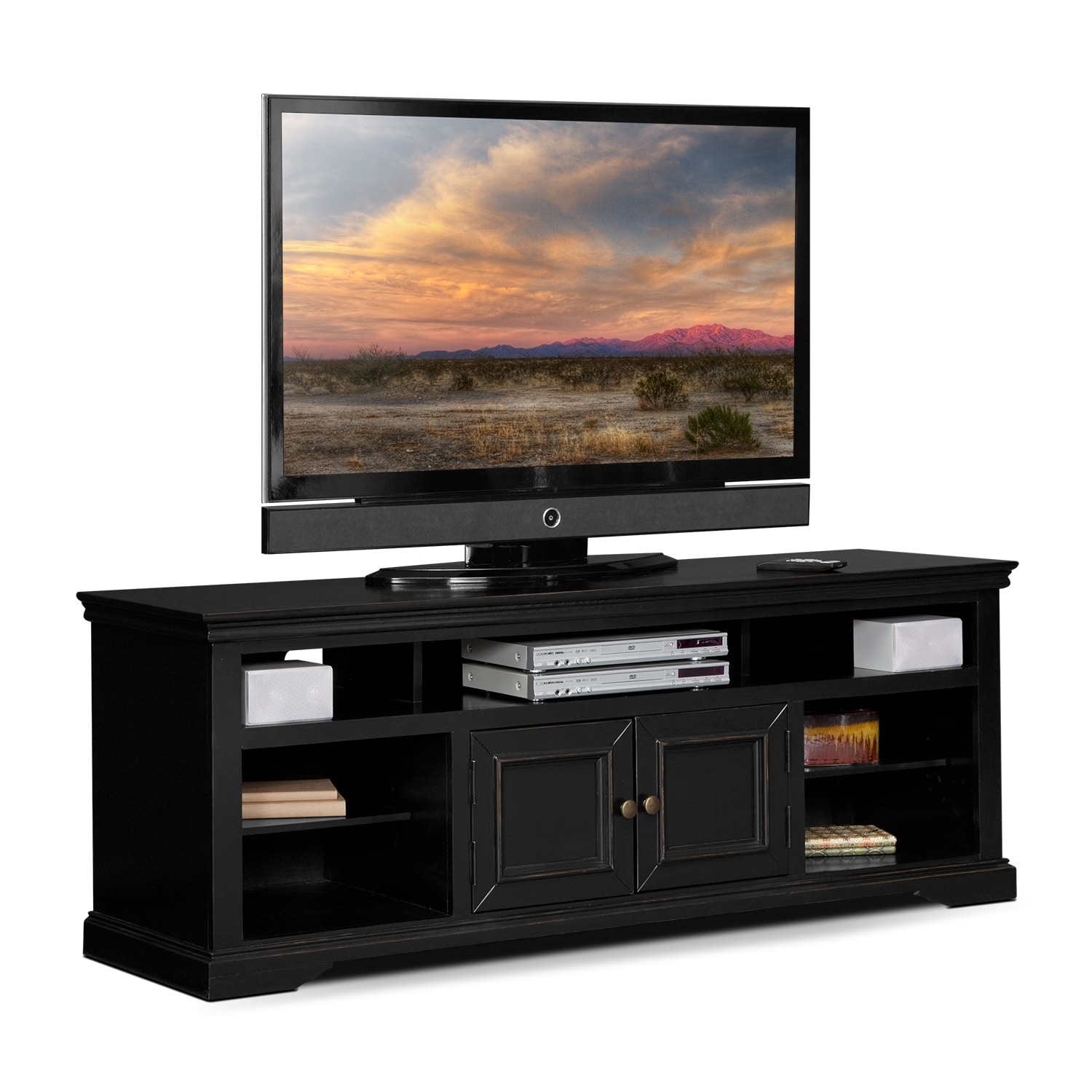 Jenson quot tv stand black value city furniture