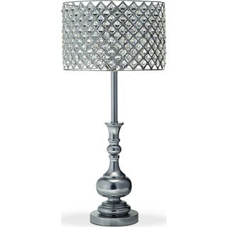 Accent lighting floor table lamps value city furniture and glass crystal table lamp greentooth Images