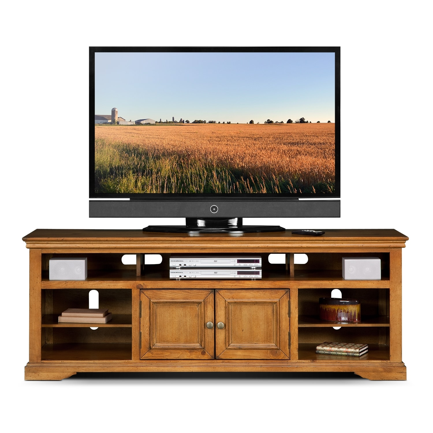 70 tv stand jenson 70 quot tv stand pine value city furniture and 28516
