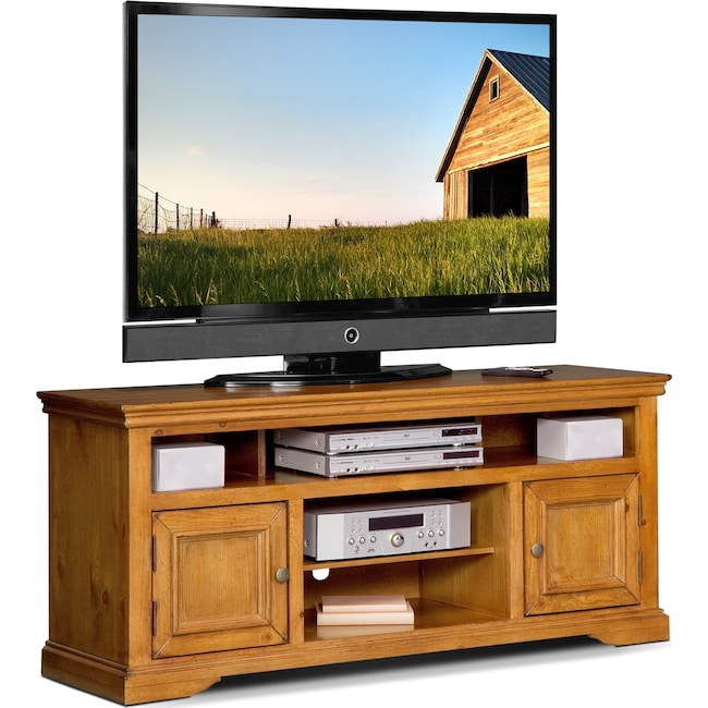 Jenson 60 Tv Stand Pine Value City Furniture And Mattresses