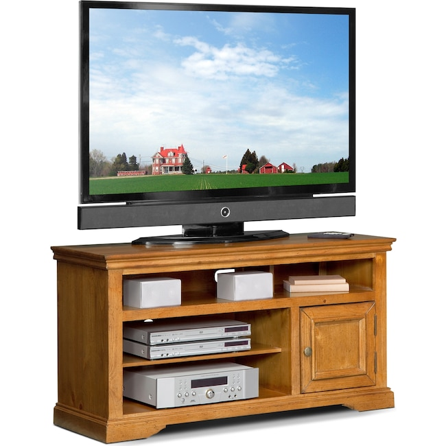 Jenson 50 Tv Stand Pine Value City Furniture And Mattresses