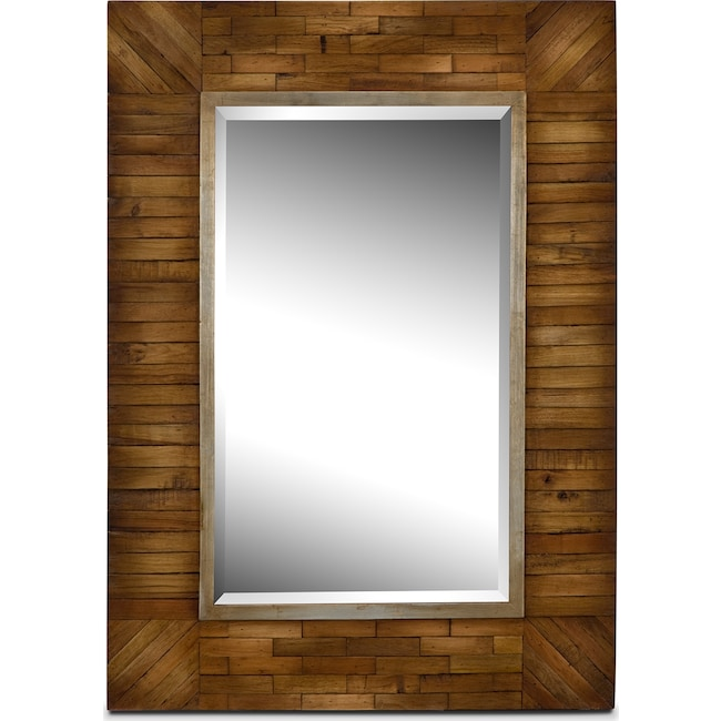 Home Accessories - Cole Mirror - Natural Wood