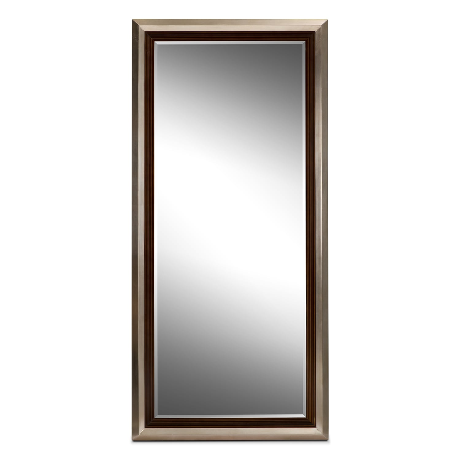 Home Accessories - Jensen Floor Mirror - Silver and Walnut