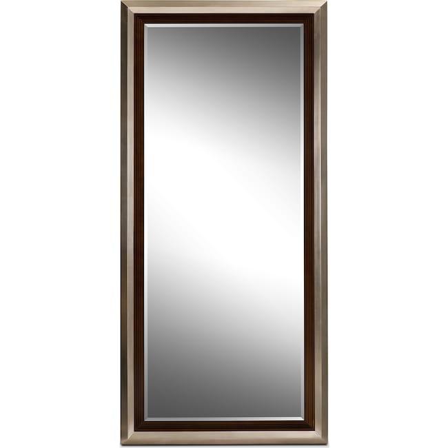 Home Accessories - Jensen Floor Mirror - Silver and Walnut
