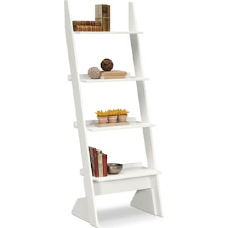 Plantation Cove Leaning Bookshelf - White