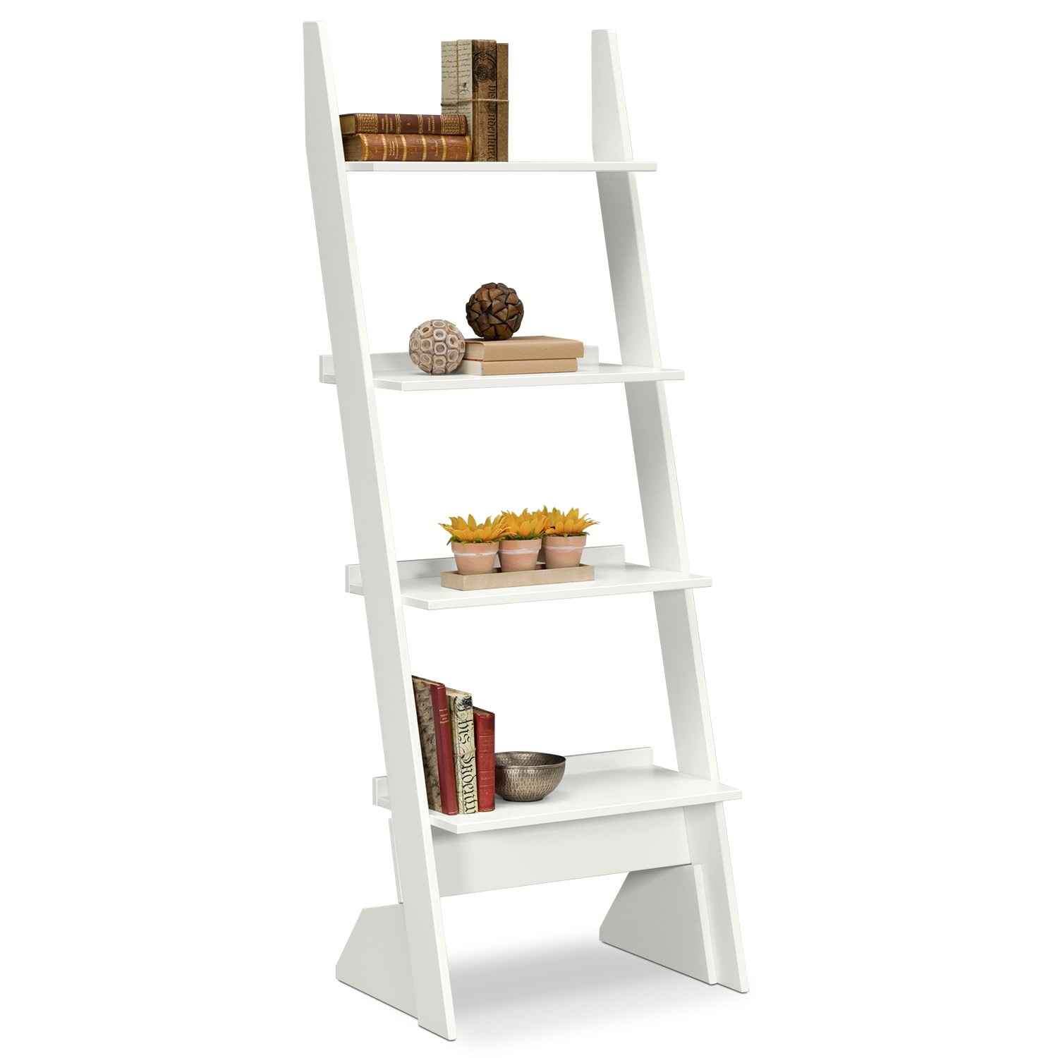 Accent And Occasional Furniture   Plantation Cove Leaning Bookshelf   White
