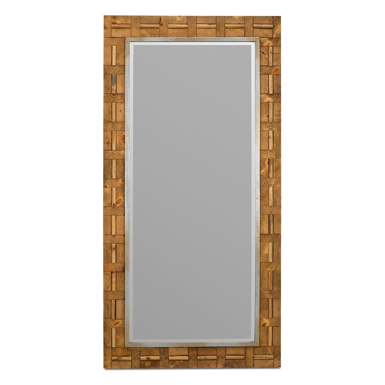 River Floor Mirror   Tan