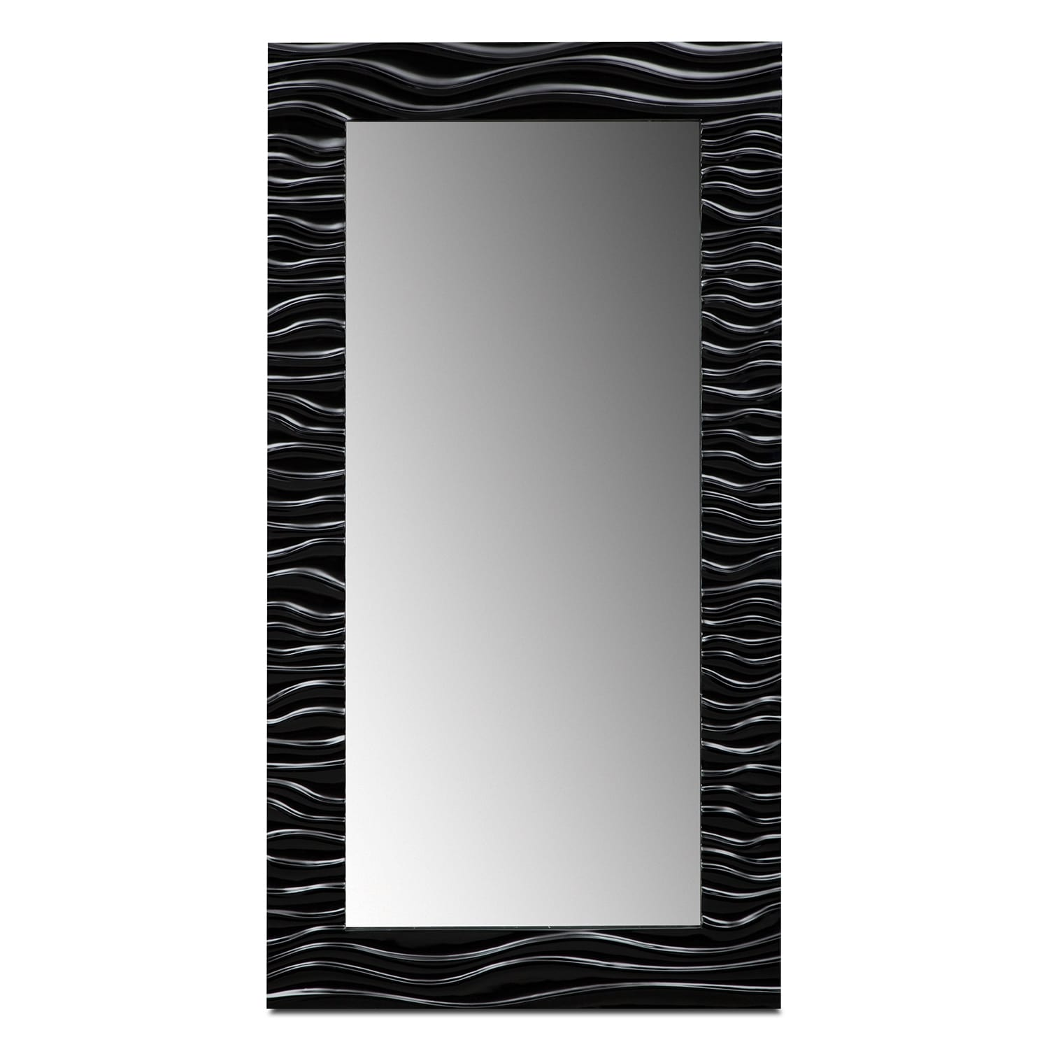 Accent and Occasional Furniture - Ella Floor Mirror - Black
