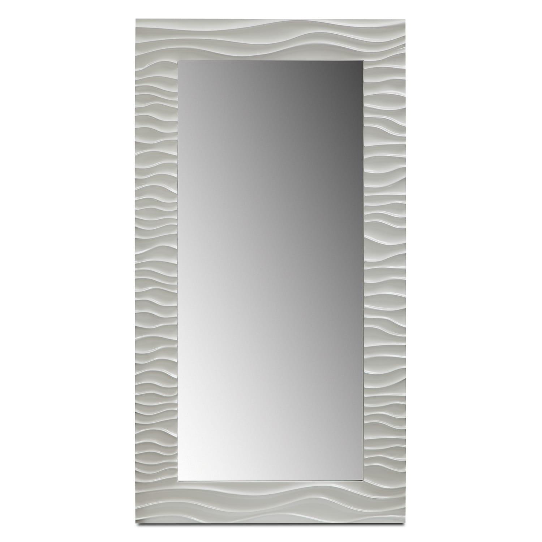 Accent and Occasional Furniture - Ella Floor Mirror - White