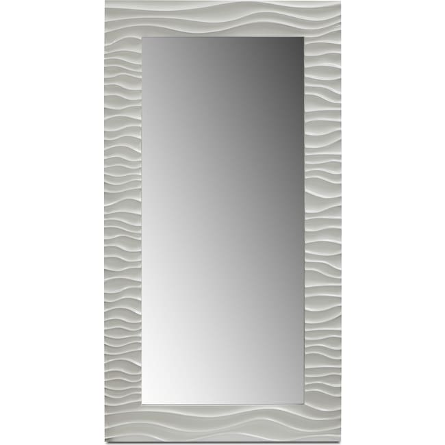 Accent and Occasional Furniture - Ella Floor Mirror - White