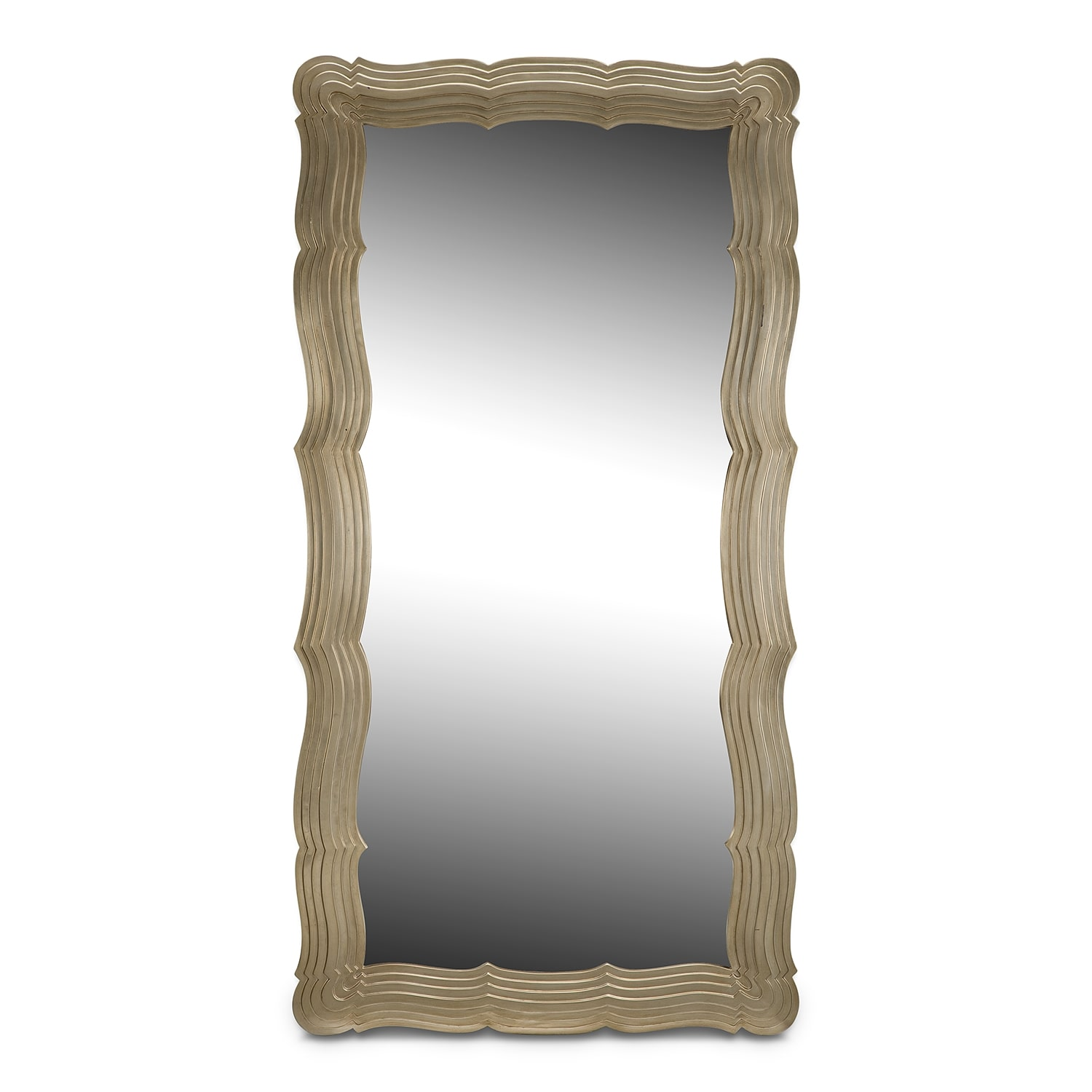 Home Accessories - Bella Antique Floor Mirror - Antique Silver