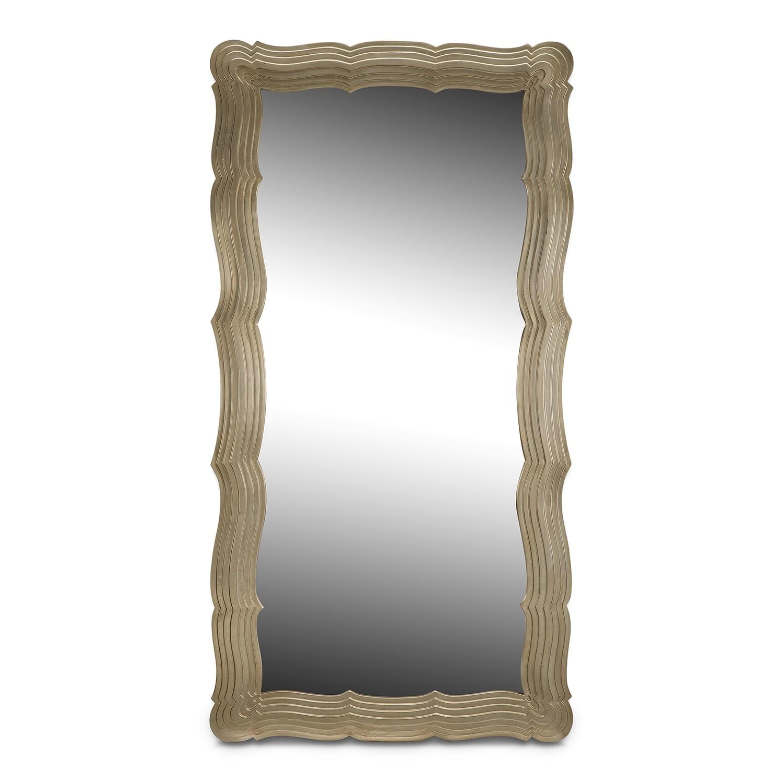 Home Accessories - Bella Antique Floor Mirror - Antique Silver