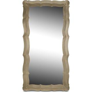 Bella Antique Floor Mirror - Antique Silver