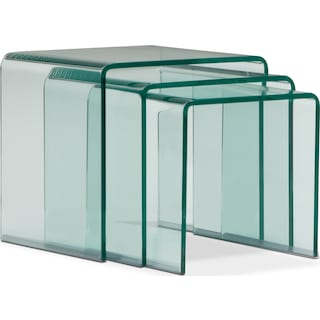 Trio Nesting Tables - Glass