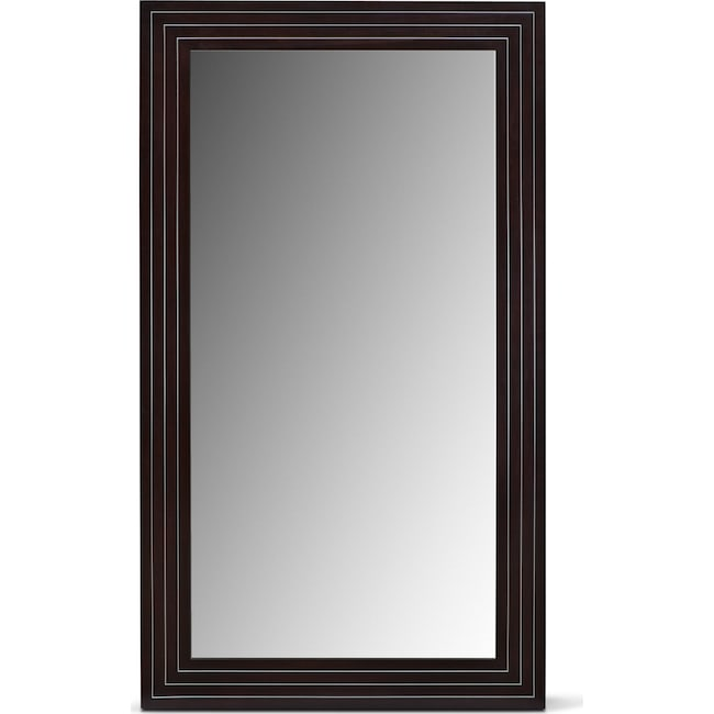 Accent and Occasional Furniture - Wyatt Floor Mirror - Black