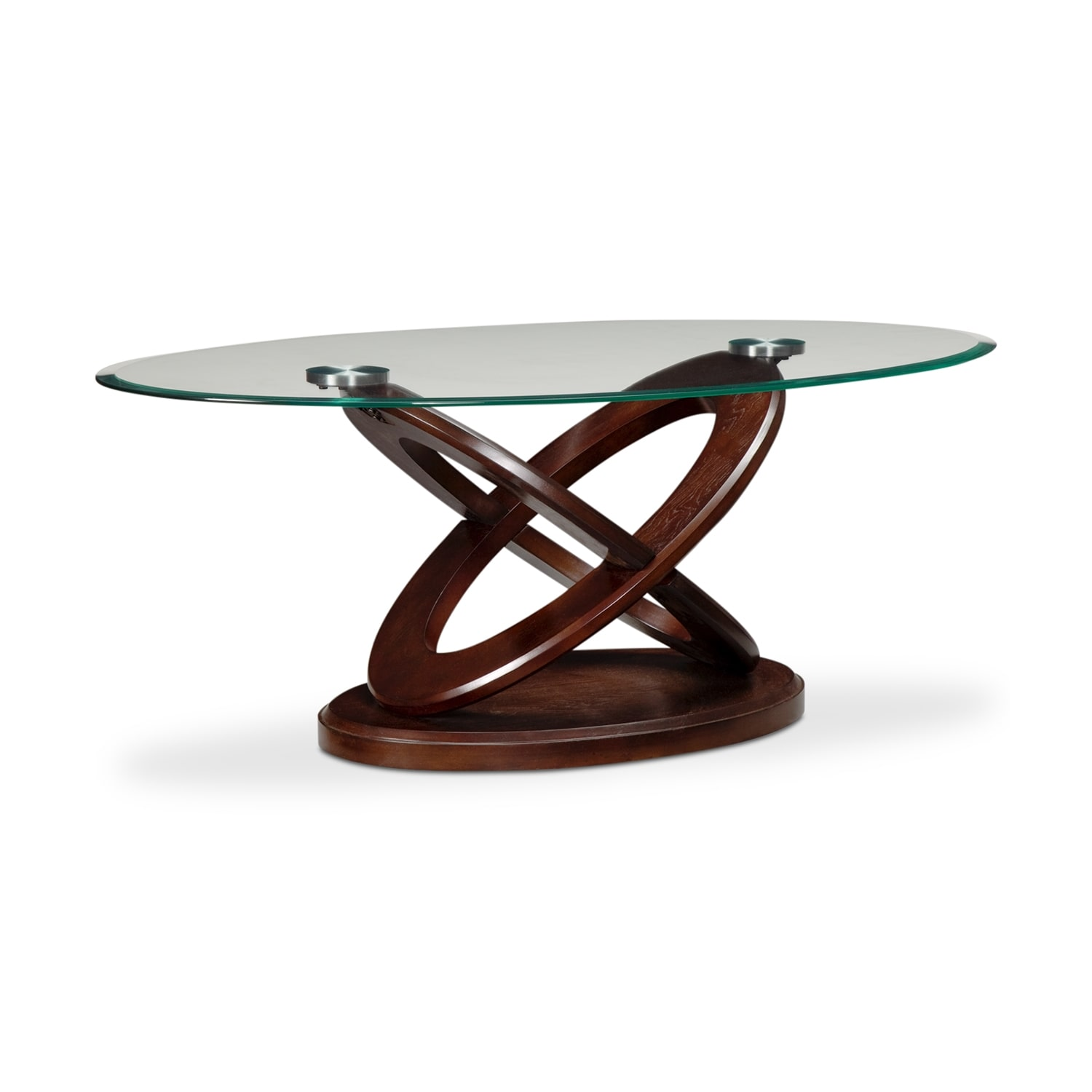 atlas cocktail table - dark merlot | value city furniture
