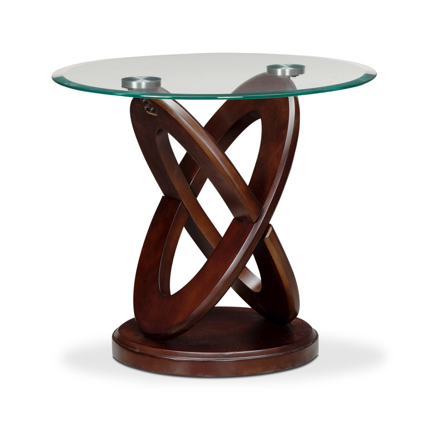 Accent and Occasional Furniture - Atlas End Table - Dark Merlot
