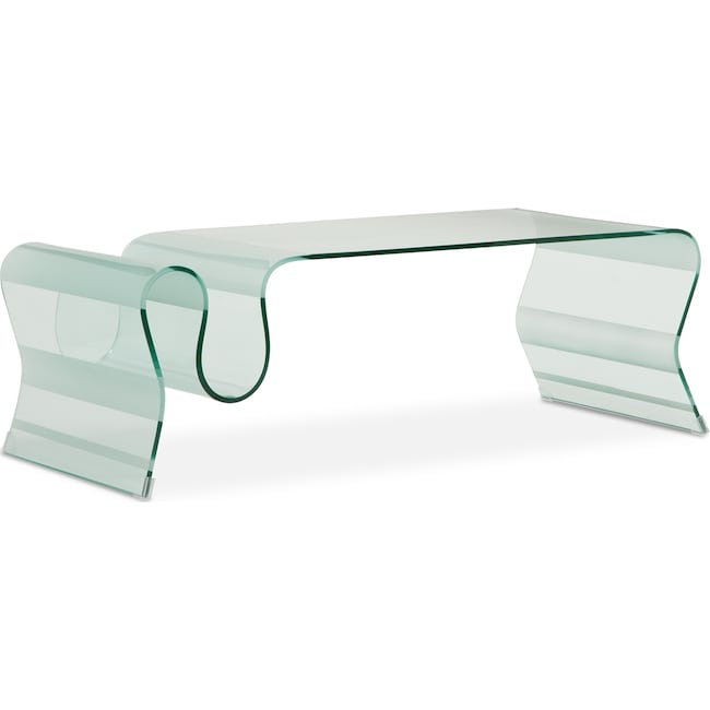 Accent and Occasional Furniture - Breeze Cocktail Table - Glass