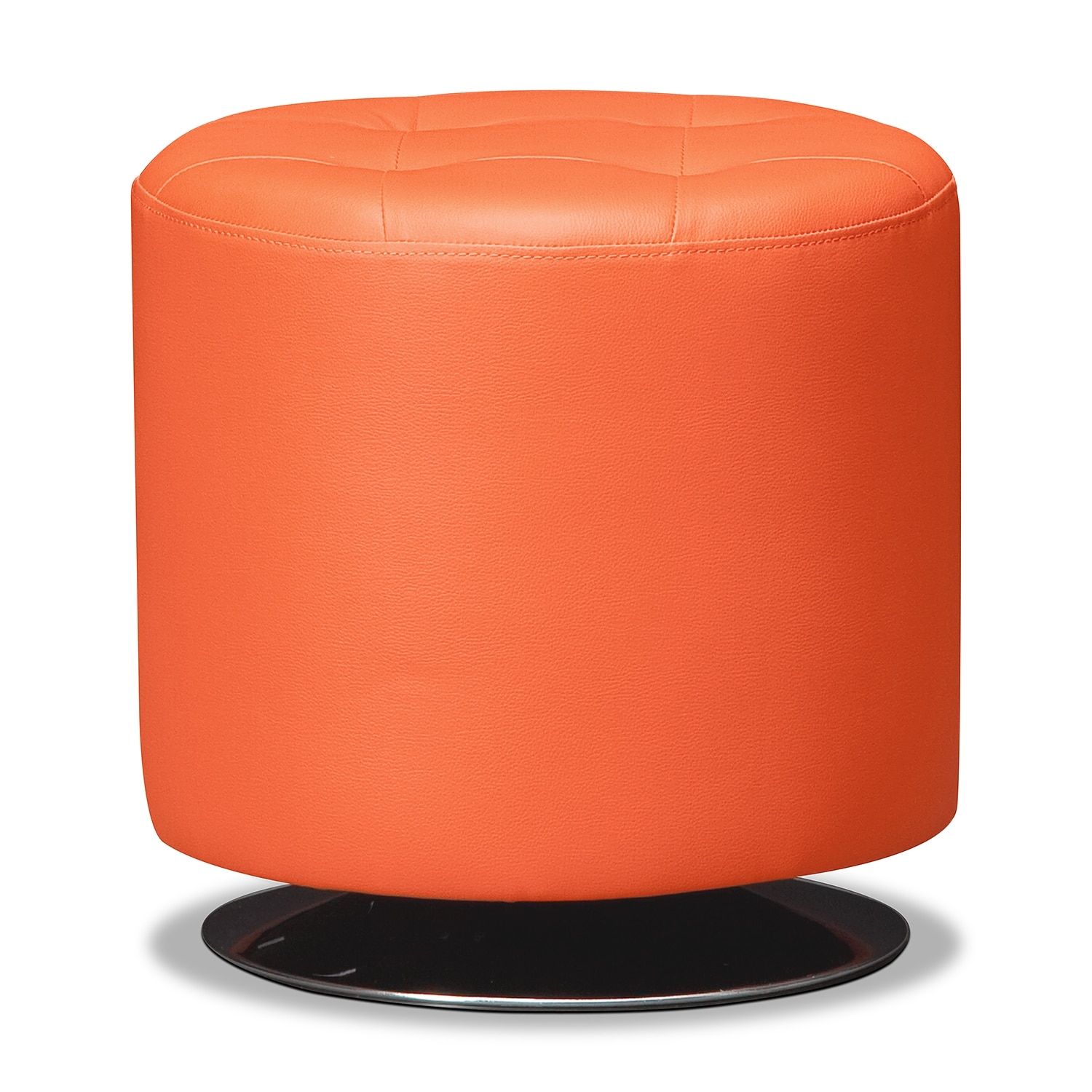 Ottomans living room seating value city furniture and mattresses dominic swivel ottoman orange geotapseo Gallery