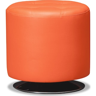 Dominic Swivel Ottoman - Orange