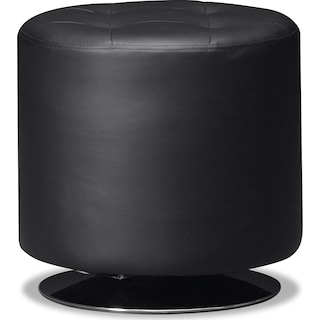 Dominic Swivel Ottoman - Black