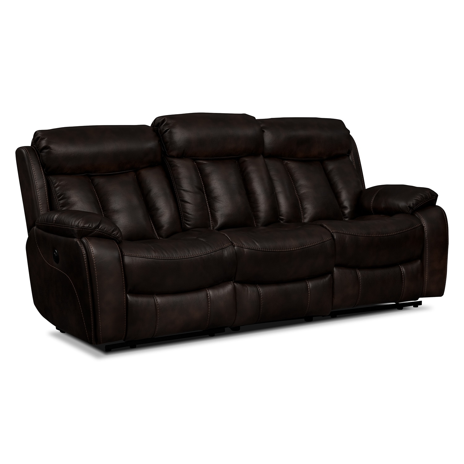 Diablo Power Reclining Sofa Walnut