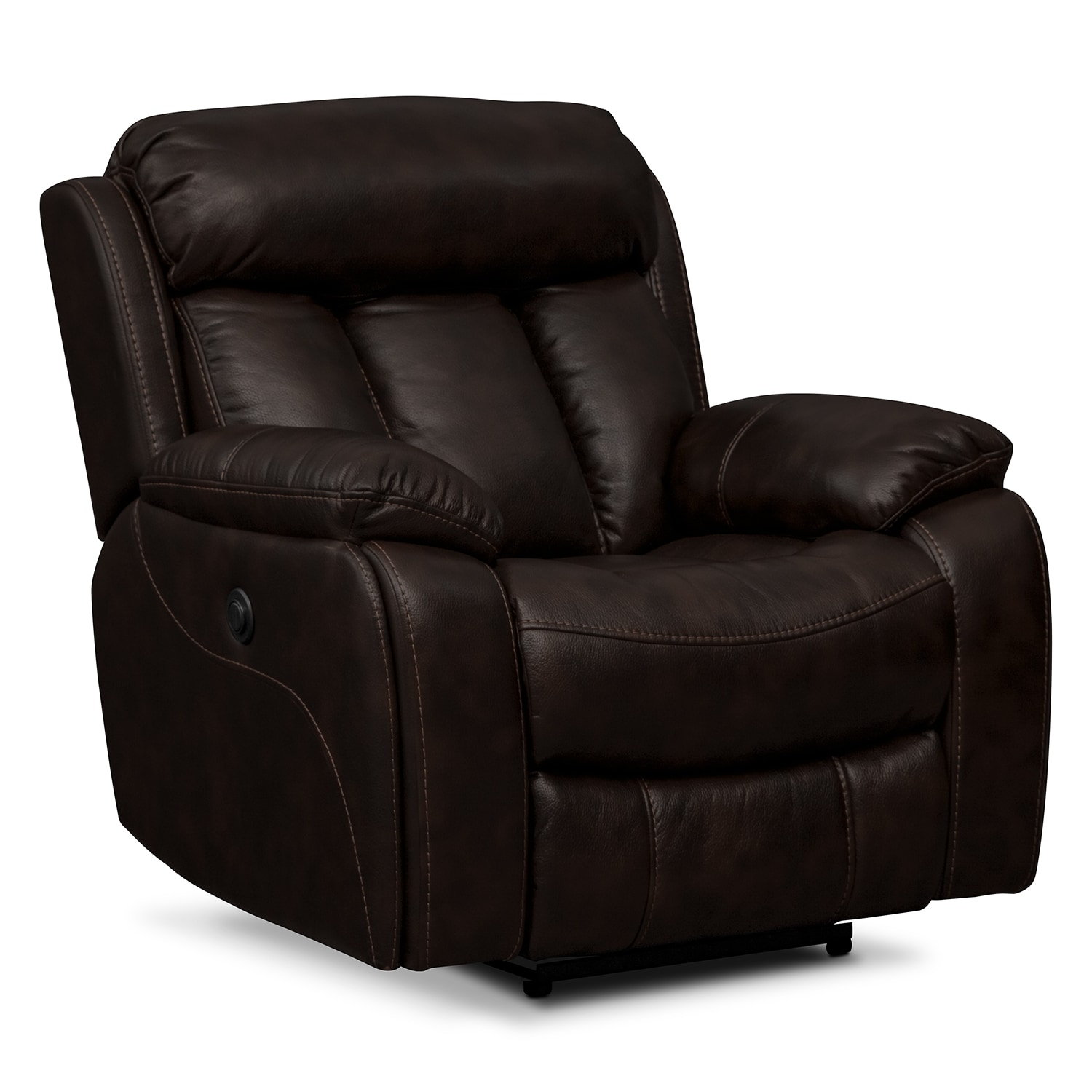 Living Room Furniture - Diablo Power Recliner - Walnut