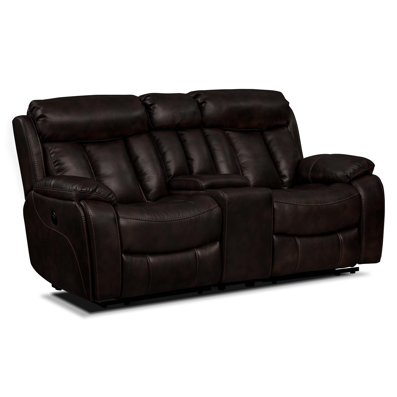 Living Room Furniture - Diablo II Power Reclining Loveseat