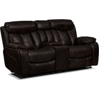 Diablo Power Reclining Loveseat - Walnut