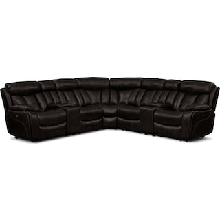 Diablo 7-Piece Power Reclining Sectional with Armless Power Chair - Walnut