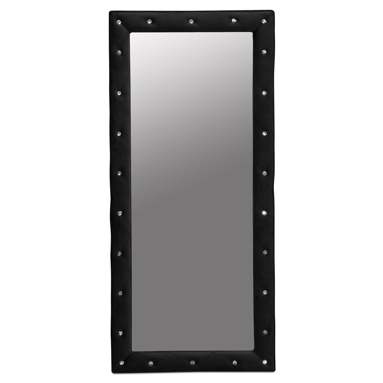Valerie Floor Mirror - Black