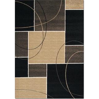 Casa Dark Circles & Squares Area Rug (5' x 8')
