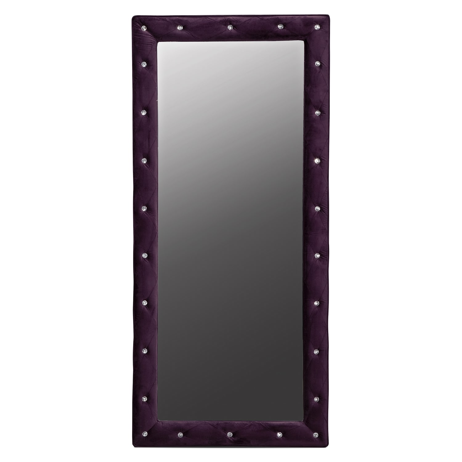 Valerie Floor Mirror - Purple