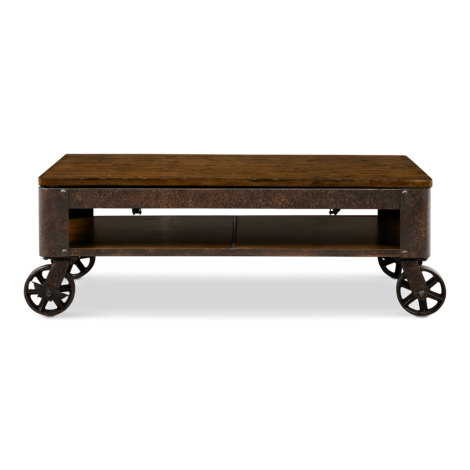 shortline lift-top cocktail table - distressed pine | value city