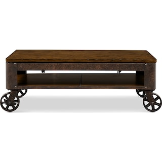 Shortline Lift-Top Coffee Table - Distressed Pine