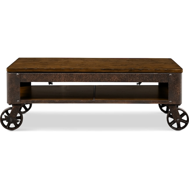 Accent And Occasional Furniture Shortline Lift Top Coffee Table Distressed Pine