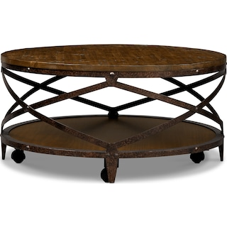 Shortline Cocktail Table - Distressed Pine