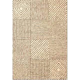 Granada Sierra 5' x 8' Area Rug - Ivory and Chocolate